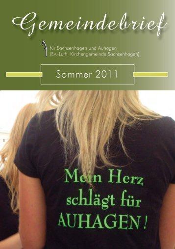Gemeindebrief - Ev.-Luth. Kirchengemeinde Sachsenhagen