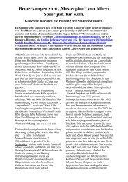 """Bemerkungen zum """"Masterplan"""" von Albert Speer jun ... - NABIS e.V."""