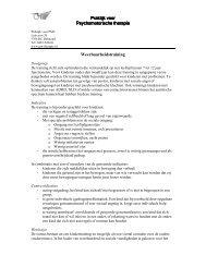 Praktijk voor Praktijk voor Psychomotoris Psychomotorische therapie ...