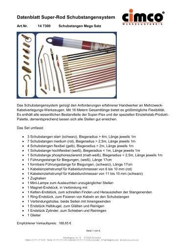 Datenblatt Super-Rod Schubstangensystem - Industrievertretung R ...