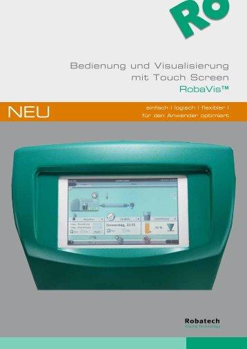 Bedienung und Visualisierung mit Touch Screen ... - Robatech