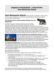 Cogbyte-Arbeitsblatt / Geschichte Das Römische Reich