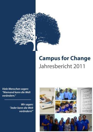 Campus for Change Jahresbericht 2011