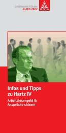 Infos und Tipps zum ALG II - IG Metall Rostock Schwerin
