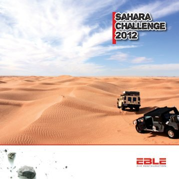 Sahara Challenge 2012 - Road Promoter