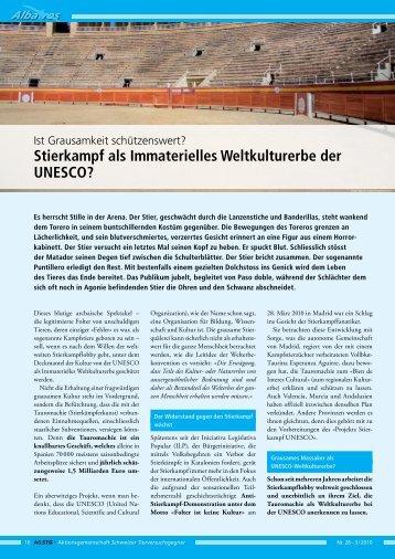 Stierkampf-UNESCO - SOS Galgos