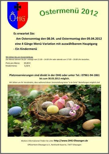 Am Ostersonntag den 08.04. und Ostermontag ... - OHG-Ellwangen