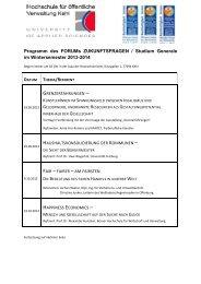 Programm Wintersemester 2013-2014 - Hochschule Kehl