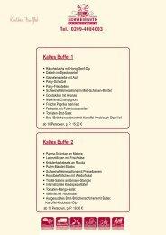 Kaltes Buffet 1 Kaltes Buffet 2 - Partyservice SCHWEIßGUTH