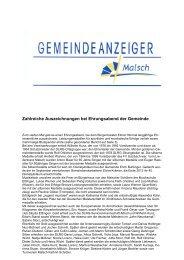 GA 16 -2013 - Gemeinde Malsch