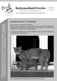 Ausgabe 01/2013 - KatzenschutzVerein Karlsruhe und Umgebung eV