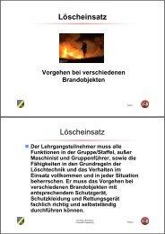 Der Löscheinsatz - Freiwillige Feuerwehr Riegelsberg