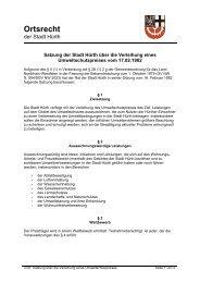 Satzung über die Verleihung eines Umweltschutzpreises - Hürth
