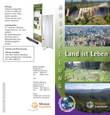 Ausstellung LAND IST LEBEN - Mission Einewelt