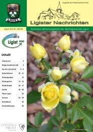 Ligist Nachrichten August 2012