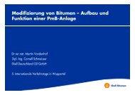 Modifizierung von Bitumen – Aufbau und g Funktion einer PmB ...