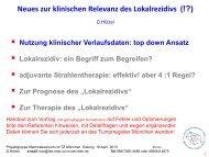 Neues zur klinischen Relevanz des Lokalrezidivs - Tumorzentrum ...