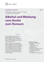 Alkohol und Werbung: vom Anreiz zum Konsum - Sucht Schweiz