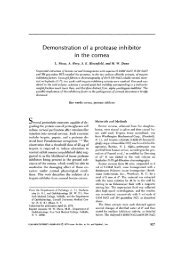 Demonstration of a protease inhibitor in the cornea - Investigative ...