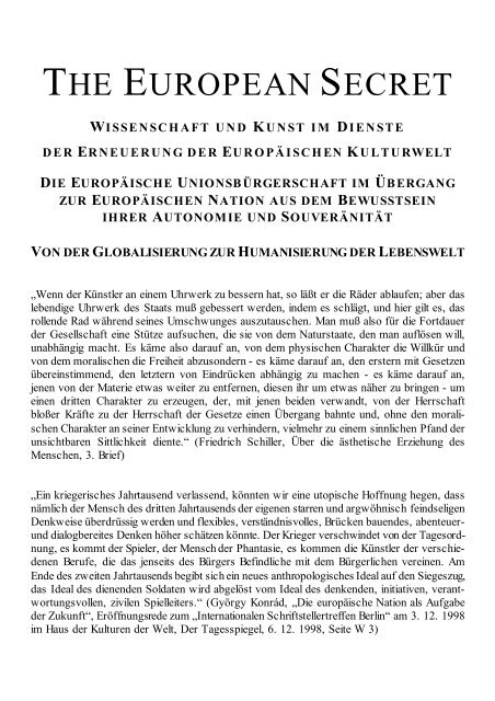 PDF download: The European Secret