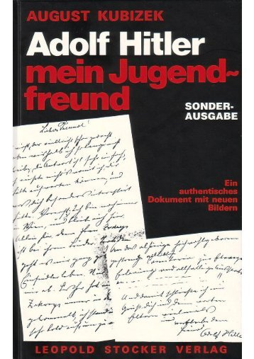 August Kubizek – Adolf Hitler – Mein Jugendfreund - Wordpress ...