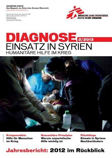 diagnose 2013-2-MSF-AT - Ärzte ohne Grenzen