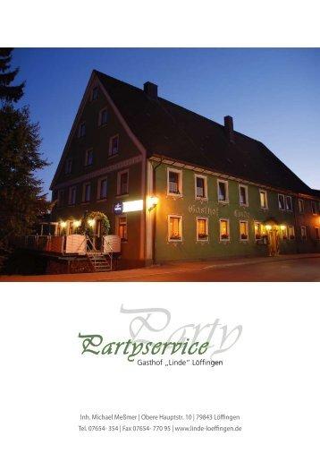 Partyservice - Gasthaus Linde - Löffingen