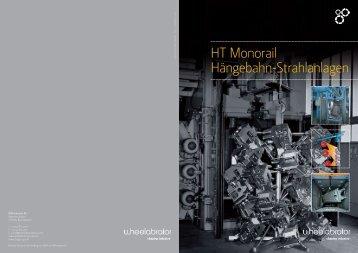 HT Monorail Hängebahn-Strahlanlagen