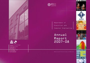Annual Report 2007-08 - FEA - American University of Beirut
