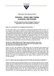 Fragen rund uns Thema Alkohol am Steuer - KfV