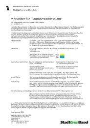 Merkblatt für Baumbestandespläne - Stadtgärtnerei