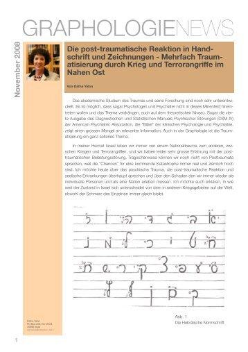 Die post-traumatische Reaktion in Handschrift und Zeichnungen