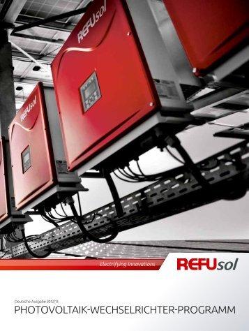 Produktprogramm - REFUsol