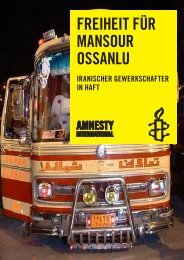 Freiheit Für Mansour ossanlu - Amnesty International Gewerkschaften