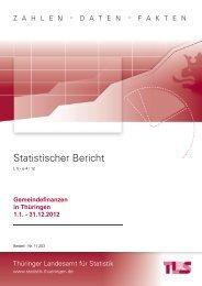 Bestell Nr - Thüringer Landesamt für Statistik