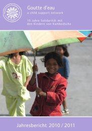 Jahresbericht 2010 / 2011 Goutte d'eau - Gouttedeau.org