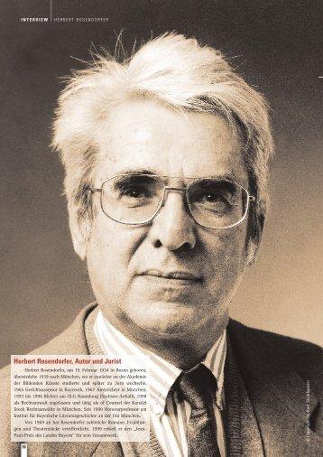 Herbert Rosendorfer, Autor und Jurist - Habermehl