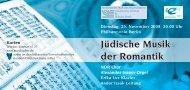 Jüdische Musik der Romantik - Europäisches Zentrum für Jüdische ...