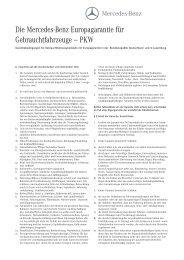 Garantiebedingungen A4 - Mercedes-Benz Deutschland