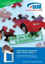 ...mehr als nur Rolladenkästen! - Erhard Fasel Rolladenkästen GmbH