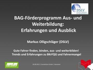 Erfahrungen und Ausblick auf 2013, Markus ... - EU-BKF.de