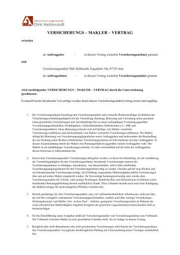 Maklersuche Muster Rahmenvertrag Inkasso Service Muster