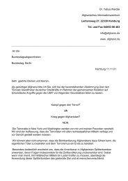 Brief an allen Abgeordneten des Bundestages