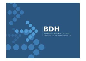 Erneuerbarer Energien - BDH