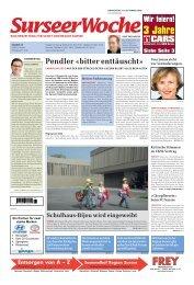 Ausgabe Surseer Woche 24. September 2009 - Neu auf www ...