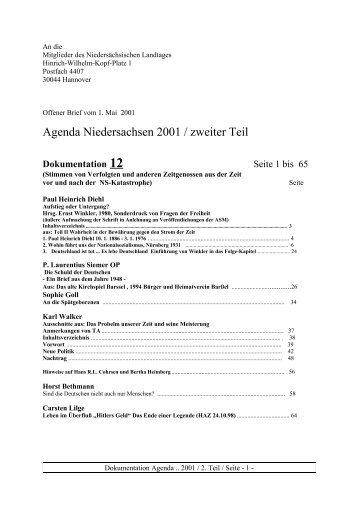 Dokumentation 12: Stimmen von Verfolgten vor und nach der NS-Zeit