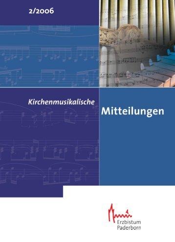 Untitled - Kirchenmusik im Erzbistum Paderborn