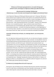 Erklärung Menschenrechte als unbedingte Teilhaberechte