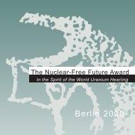 Berlin 2000 - The Nuclear-Free Future Award