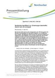 Nordzucker legt Bilanz vor: Erwartungen übertroffen - Nordzucker AG